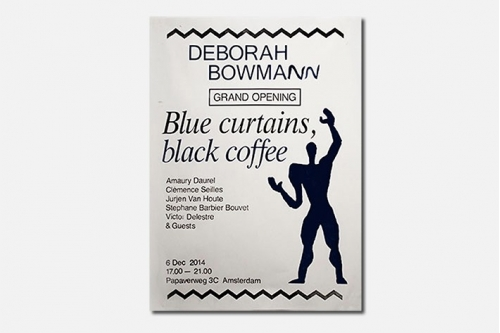 "Poster for ""Blue Curtains, Black Coffee"""