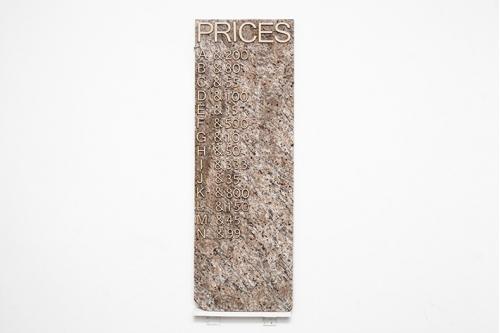 "Price List ""Blue Curtains, Black Coffee"""